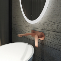 Stilvoller Wand-Waschtischmischer in Brushed Rose Golden